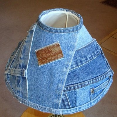 Denim lampshade