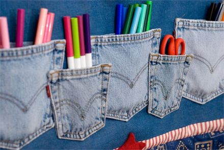 Jeans pockets wall organizer