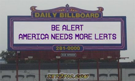 Be alert America needs more lerts