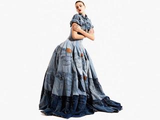 Designer Gary Harvey used 42 pairs of jeans!