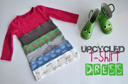 Make a upcycled t-shirt dress