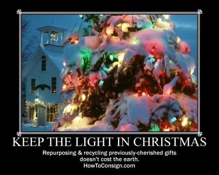 Keep the light in Christmas poster
