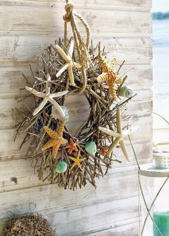 Trim a wreath with summer vacation finds for a personable decor, says HowToConsign.com