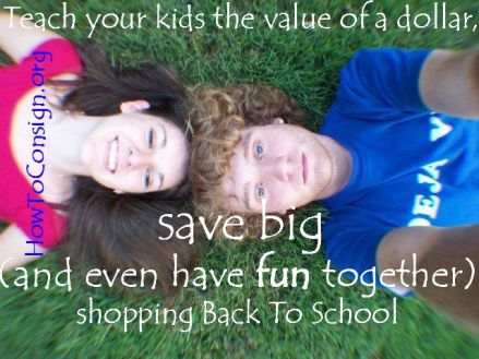 Teach tyour kids the value of a dollar shopping back to school
