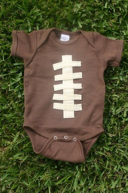 Dye a secondhand onesie and baby's a football!