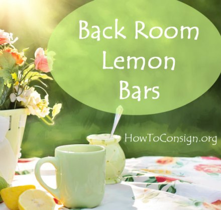 HowToConsign.org Lemon Bar Recipe from the Back Room